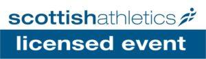Scottish Atheltics licensed event logo